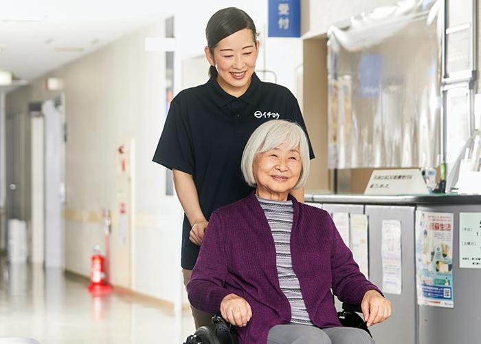 病院内の介助
